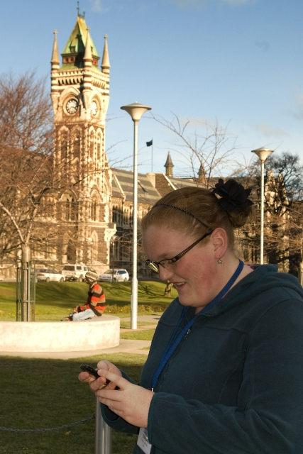 Students playing TidyCity in Dunedin, New Zealand